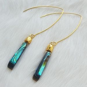 Abalone Shell Threader Earrings